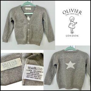 100% Cashmere Olivier London Baby Cardigan, 3-6M